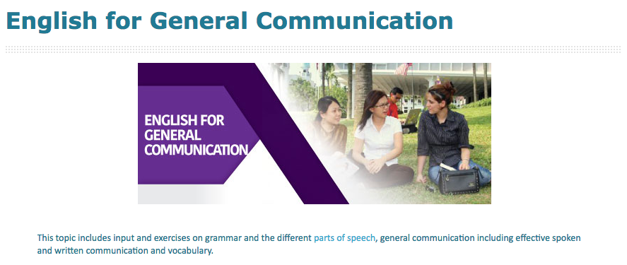 English for General Communication