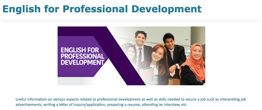 English for Professional Development