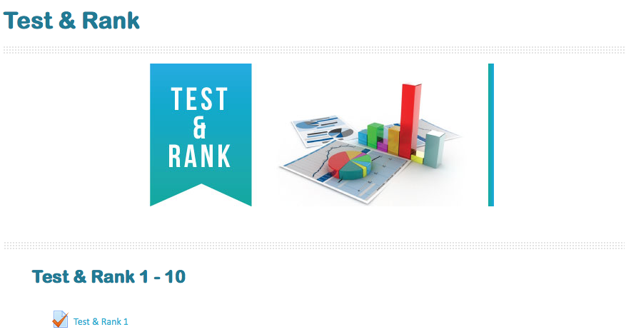 Test & Rank